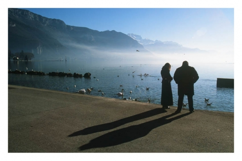 Illustration - Annecy soleil bas d'hiver - Italis / © William Pestrimaux